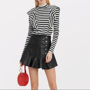 Marissa Webb Intermix Ronan Leather Mini Skirt 2